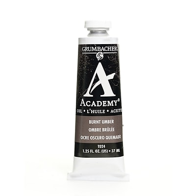 Grumbacher Academy Oil Colors Burnt Umber 1.25 Oz. [Pack Of 3]