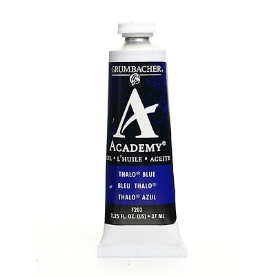 Grumbacher Academy Oil Colors Thalo Blue 1.25 Oz. [Pack Of 3]