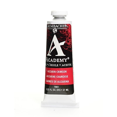 Grumbacher Academy Oil Colors Alizarin Crimson 1.25 Oz. [Pack Of 3]