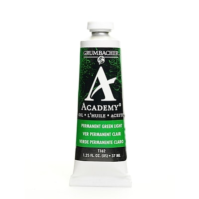 Grumbacher Academy Oil Colors Permanent Green Light 1.25 Oz. [Pack Of 3]