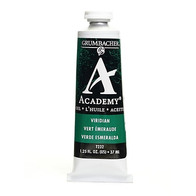 Grumbacher Academy Oil Colors Viridian Hue 1.25 Oz. [Pack Of 3]