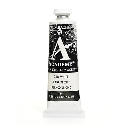 Grumbacher Academy Oil Colors Zinc White 1.25 Oz. [Pack Of 3]