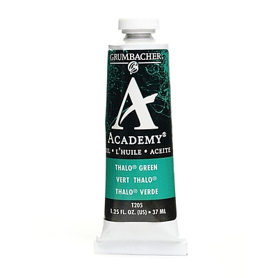 Grumbacher Academy Oil Colors Thalo Green (Blue Shade) 1.25 Oz. [Pack Of 3]