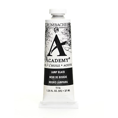 Grumbacher Academy Oil Colors Lamp Black 1.25 Oz. [Pack Of 3]