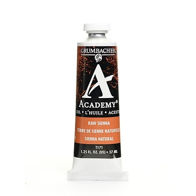 Grumbacher Academy Oil Colors Raw Sienna 1.25 Oz. [Pack Of 3]