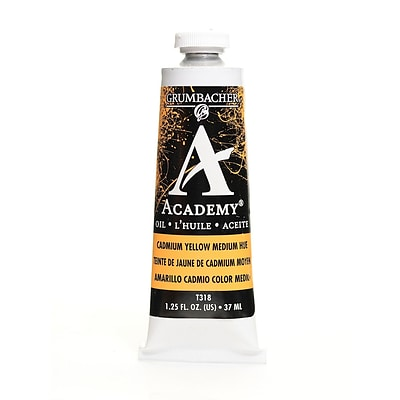 Grumbacher Academy Oil Colors Cadmium Yellow Medium Hue 1.25 Oz. [Pack Of 3]
