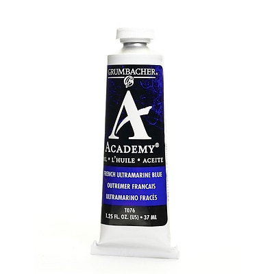 Grumbacher Academy Oil Colors French Ultramarine Blue 1.25 Oz. [Pack Of 3]