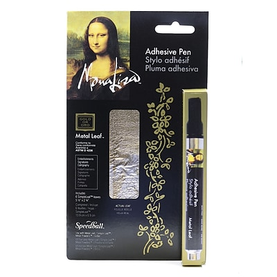 Mona Lisa Adhesive Pen pen plus gold leaf [Pack of 2]