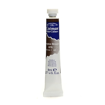 Winsor And Newton Cotman Water Colours, Vandyke Brown 676, 8Ml, 4/Pack (42358-Pk4)
