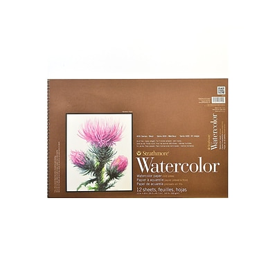 Strathmore 400 Series Watercolor Pad 12 In. X 18 In. Spiral Pad Of 12 [Pack Of 2]