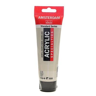 Amsterdam Standard Series Acrylic Paint, Silver, 120Ml, 3/Pack (25525-Pk3)