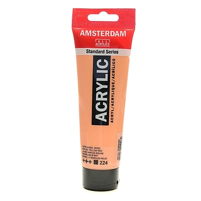 Amsterdam Standard Series Acrylic Paint Naples, Yellow Red, 120Ml, 3/Pack (85436-Pk3)