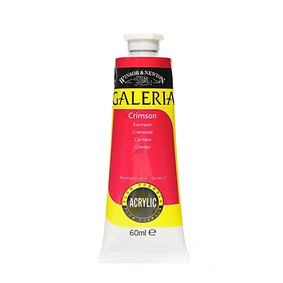 Winsor And Newton Galeria Flow Formula Acrylic Colours, Crimson No 203, 60Ml, 4/Pack