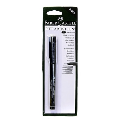 Faber-Castell Pitt Artist Pens black superfine [Pack of 8]