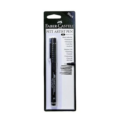 Faber-Castell Pitt Artist Pens black medium [Pack of 8]