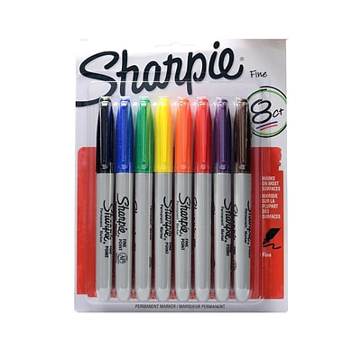 Sharpie Fine Point Permanent Marker Set set of 8 [Pack of 2]