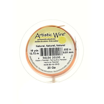 Artistic Wire Spools 15 Yd. Natural 20 Gauge [Pack Of 4]
