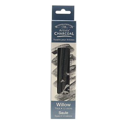 Winsor and Newton Artists Charcoal, Willow, Thick, 2/Box, 2/Pack