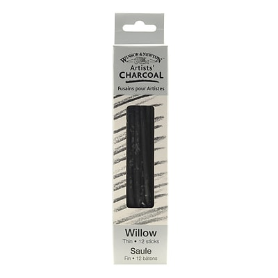 Winsor and Newton Artists Charcoal Willow Thin Box of 12 2/Pack
