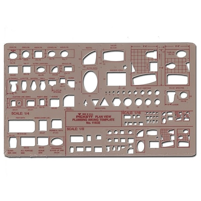 Pickett Plumbing Drafting Templates Plan View 1/8 In. = 1 Ft.