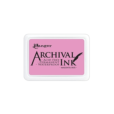 Ranger Archival Ink Magenta Hue 2 1/2 In. X 3 3/4 In. Pad [Pack Of 3]