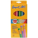 Sargent Art Erasable Colored Pencils; 12Pk