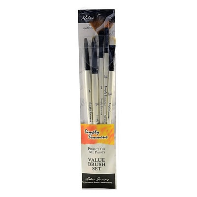 Robert Simmons Simply Simmons Value Brush Sets Tones And Textures Set Set Of 5