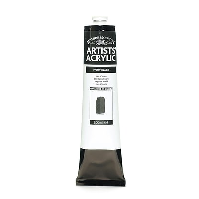 Winsor  And  Newton Professional Acrylic Colours Ivory Black 200 Ml 331