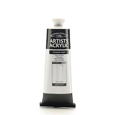 Winsor  And  Newton Professional Acrylic Colours Titanium White 60 Ml 644 [Pack Of 2]