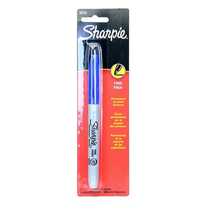 Sharpie Fine Point Markers blue carded [Pack of 18]