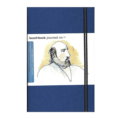 Hand Book Journal Co. Travelogue Drawing Journals 5.5 In.X8.25 In. Portrait Ultramarine Blue [2Pk]