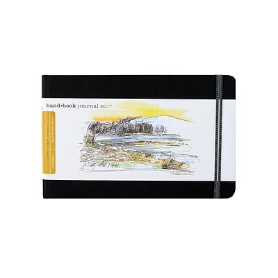 Hand Book Journal Co. Travelogue Drawing Journals 5 1/2 In. X 8 1/4 In. Landscape Ivory Black [2Pk]