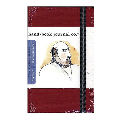 Hand Book Journal Co. Travelogue Drawing Journals 3 1/2 In. X 5 1/2 In. Portrait Vermilion Red