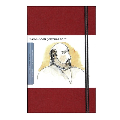 Hand Book Journal Co. Travelogue Drawing Journals 5 1/2 In. X 8 1/4 In. Portrait Vermilion Red [2Pk]