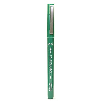 Marvy Uchida 6000 Calligraphy Pens, Green, 2.0mm Fine, 12/Pack (22133-PK12)