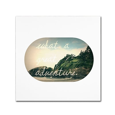 Trademark Fine Art Leah Flores What A Great Adventure 14 x 14 (ALI0678-C1414GG)