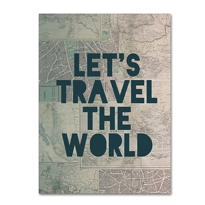 Trademark Fine Art Leah Flores Travel the World 24 x 32 (ALI0712-C2432GG)