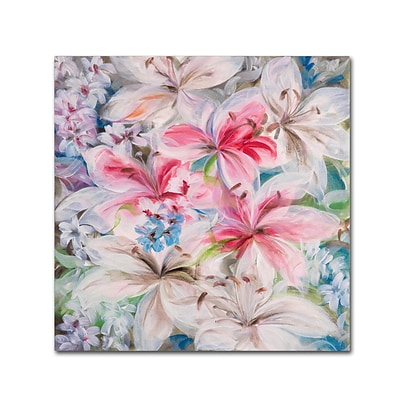 Trademark Fine Art Li Bo Lily Patch 14 x 14 (ALI0759-C1414GG)