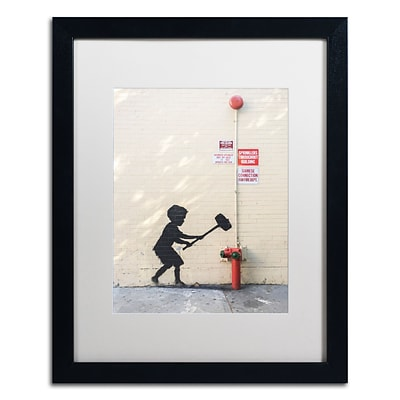 Trademark Fine Art Banksy Better Out Than In 16 x 20 (ALI0800-B1620MF)