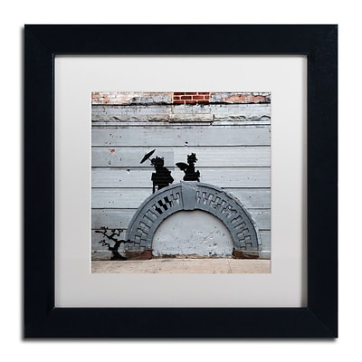 Trademark Fine Art Banksy NYC Japanese Bridge 11 x 11 (ALI0807-B1111MF)