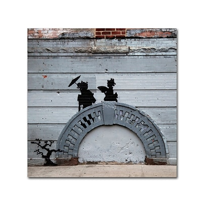 Trademark Fine Art Banksy NYC Japanese Bridge 18 x 18 (ALI0807-C1818GG)