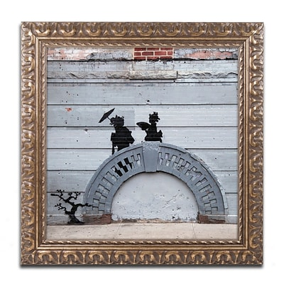Trademark Fine Art Banksy NYC Japanese Bridge 11 x 11 (ALI0807-G1111F)