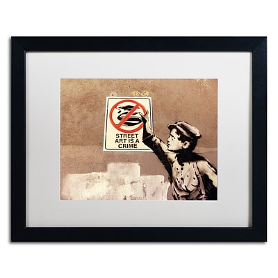 Trademark Fine Art Banksy Street Art is a Crime 16 x 20 (ALI0813-B1620MF)