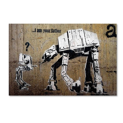 Trademark Fine Art Banksy Your Father 16 x 24 (ALI0816-C1624GG)