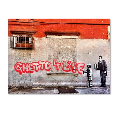 Trademark Fine Art Banksy Ghetto For Life 14 x 19 (ALI0817-C1419GG)