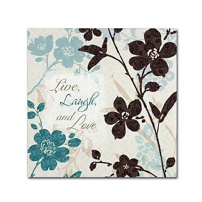 Trademark Fine Art Lisa Audit Botanical Touch Quote II 18 x 18 (WAP0175-C1818GG)