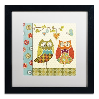 Trademark Fine Art Lisa Audit Owl Wonderful I 16 x 16 (WAP0210-B1616MF)