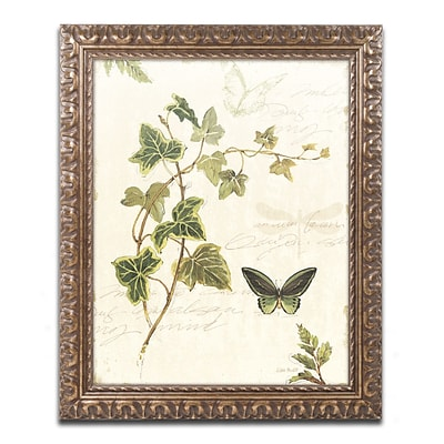 Lisa Audit Ivies and Ferns IV Ornate Framed Art 16 x 20 (WAP0220-G1620F)