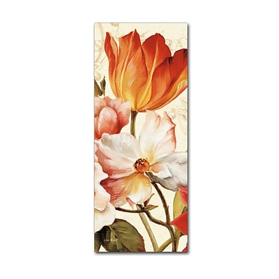 Trademark Fine Art Lisa Audit Poesie Florale Panel I 14 x 32 (WAP0223-C1432GG)