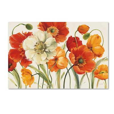 Trademark Fine Art Lisa Audit Poppies Melody I 22 x 32 (WAP0229-C2232GG)